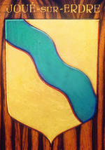 Blason jaune et bleu de Joué-sur-Erdre