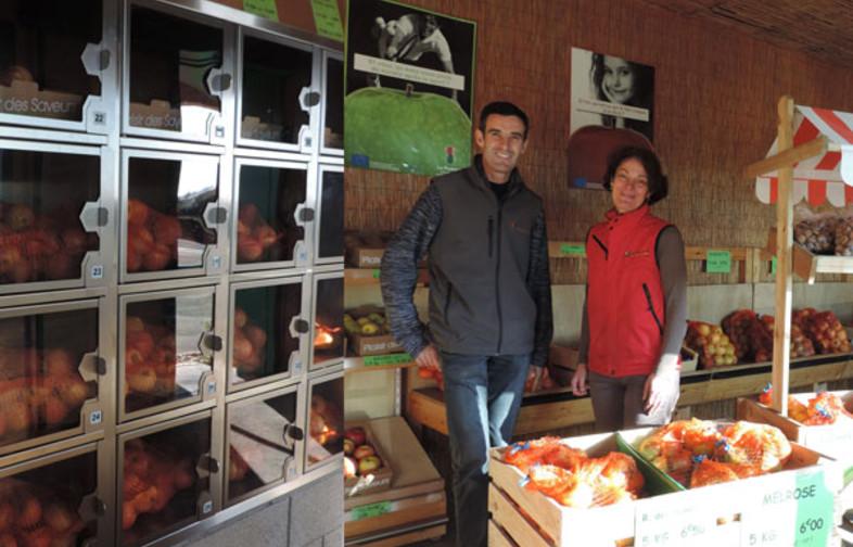 Franck et Marie-Laure DESHAIS dans leur boutique